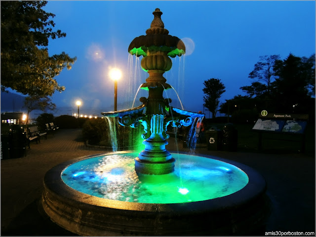 Fuente del Agamont Park en Bar Harbor, Maine