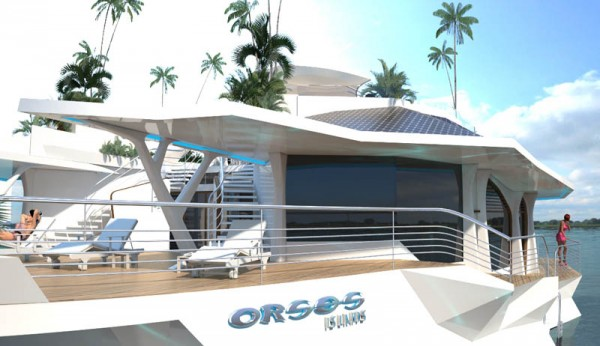 Floating island boat orsos