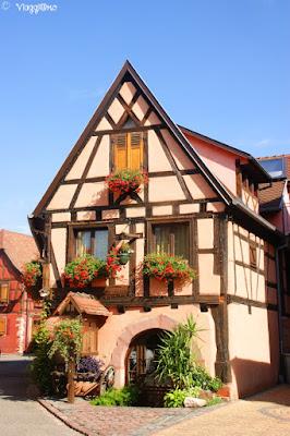 Una delle tipiche abitazioni di Bergheim
