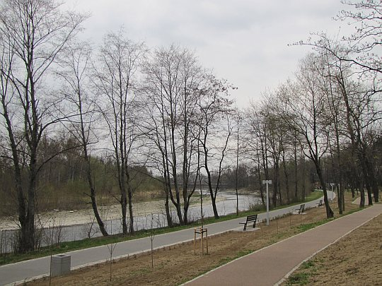 Myślenice - Zarabie. Rzeka Raba