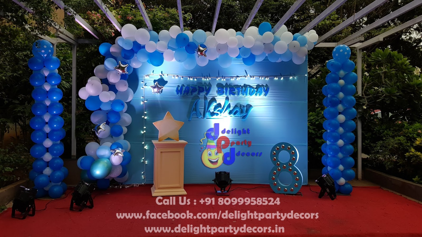 8 Years Old Boy Birthday Party Decoration In Hyderabad Call Us For More Details 91 8099958524 8YearsOldBoyBirthdayPartyDecorationInHyderabad