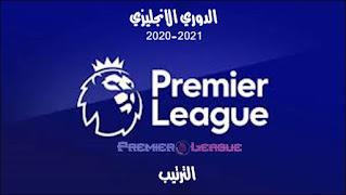 ترتيب الدوري الانجليزي 2020/2021