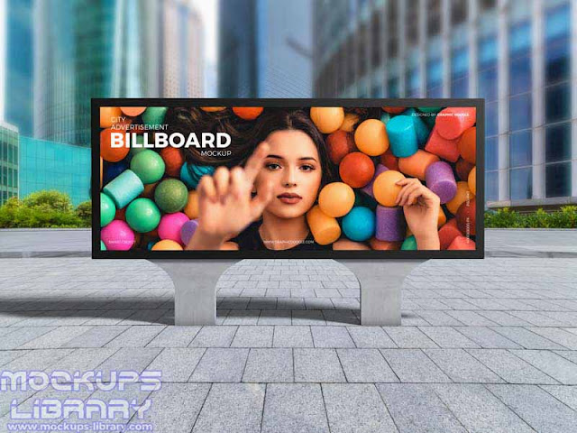 city advertisement billboard mockup