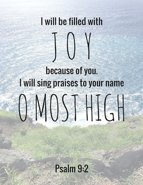 Psalm 9:2 Printable | House Homemade
