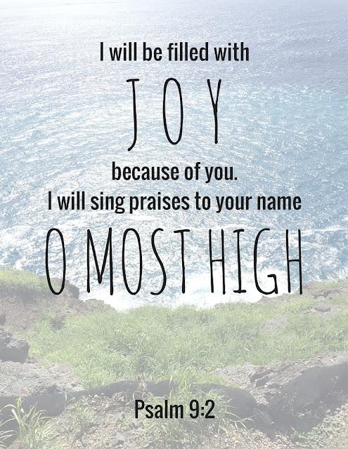 Psalm 9:2 Printable | House Homemade