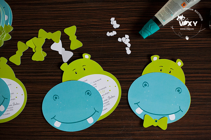 invitatie hippo, invitatii hipopotam, invitatii botez, invitatii desosebite, vixy.ro, invitatii bebelusi, invitatii personalizate, invitatii botez