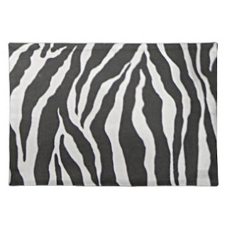 Zebra print place mat