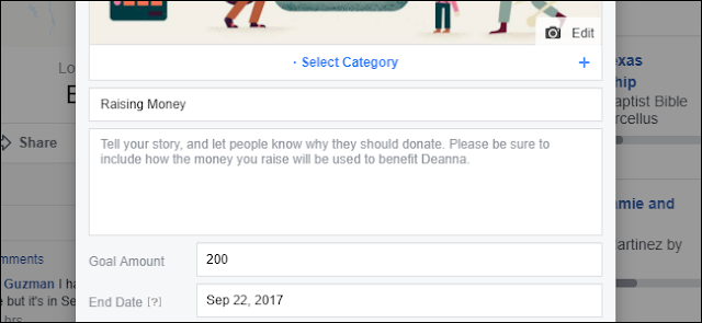 Fare una scheda raccolta fondi facebook