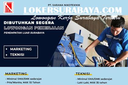 Lowongan Kerja Terbaru di PT. Sarana Nikoteknik Surabaya Mei 2019