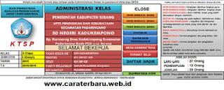 Aplikasi Raport SD Kurikulum KTSP
