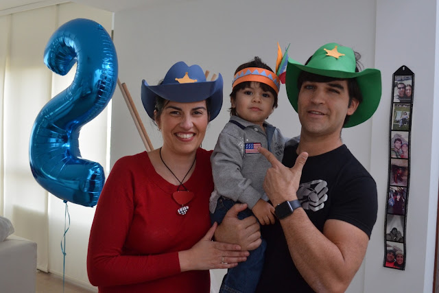 cumpleaños indios y vaqueros