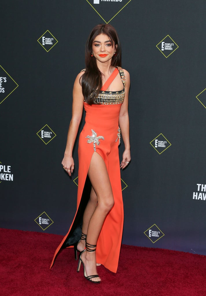 Sarah Hyland Rocks A Double Thigh-High Slit Dress At The 2019 People'sChoice Awards