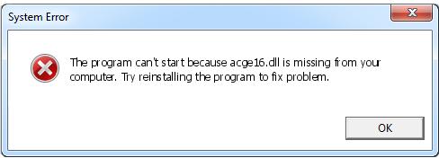 Télécharger Acge16.dll Fichier Gratuit Installer