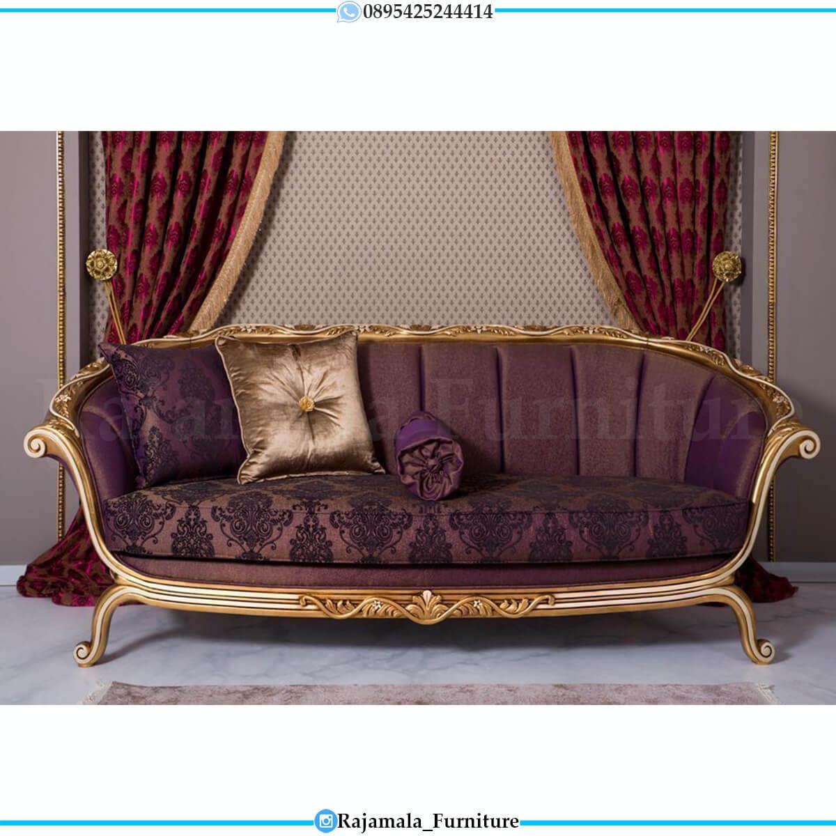 Set Sofa Tamu Mewah Jepara Ukiran Luxury Baroque Italian Design RM-0736