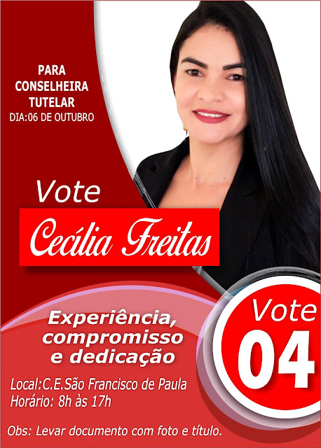 Flyer para eleição