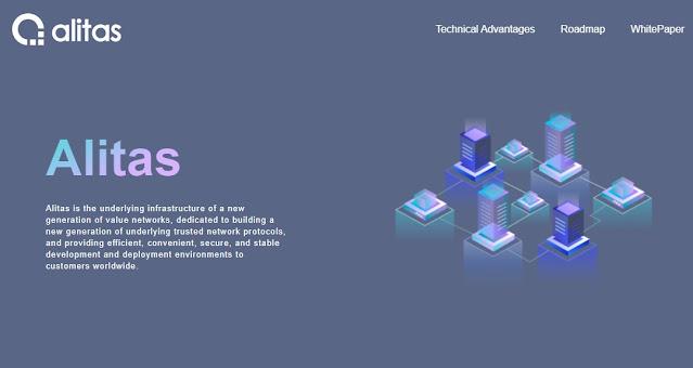 Screenshot Website Alitas (ALT) Cryptocurrency