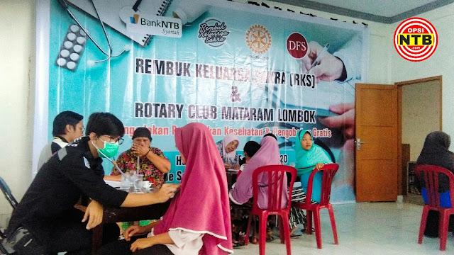 RKS Adakan Bakti Sosial Pengobatan Gratis, Masyarakat Sakra Antri