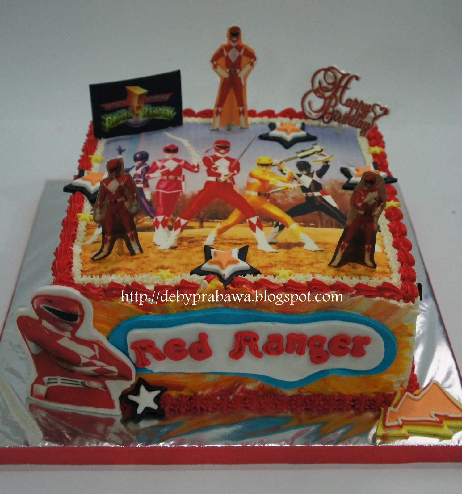 Butterfly Cake Red Power Ranger Mighty Morphin Power Ranger