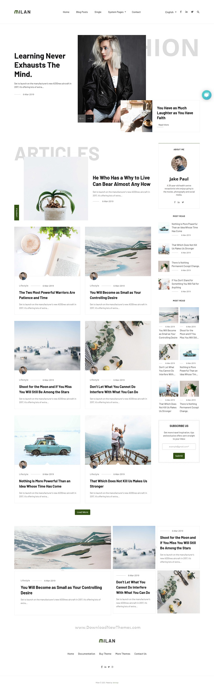 Blog and Magazine HubSpot Theme