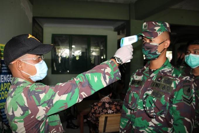 Rapid Test Ratusan Personel Kodam XII Tpr Non Reaktif