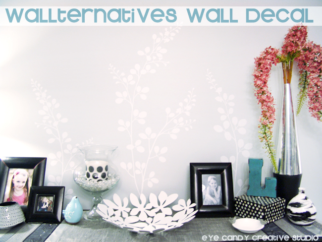 wallternatives wall decal, whte floral decal, smell the flowers, vinyl