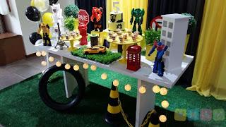 Decoração festa infantil Transformers Porto Alegre