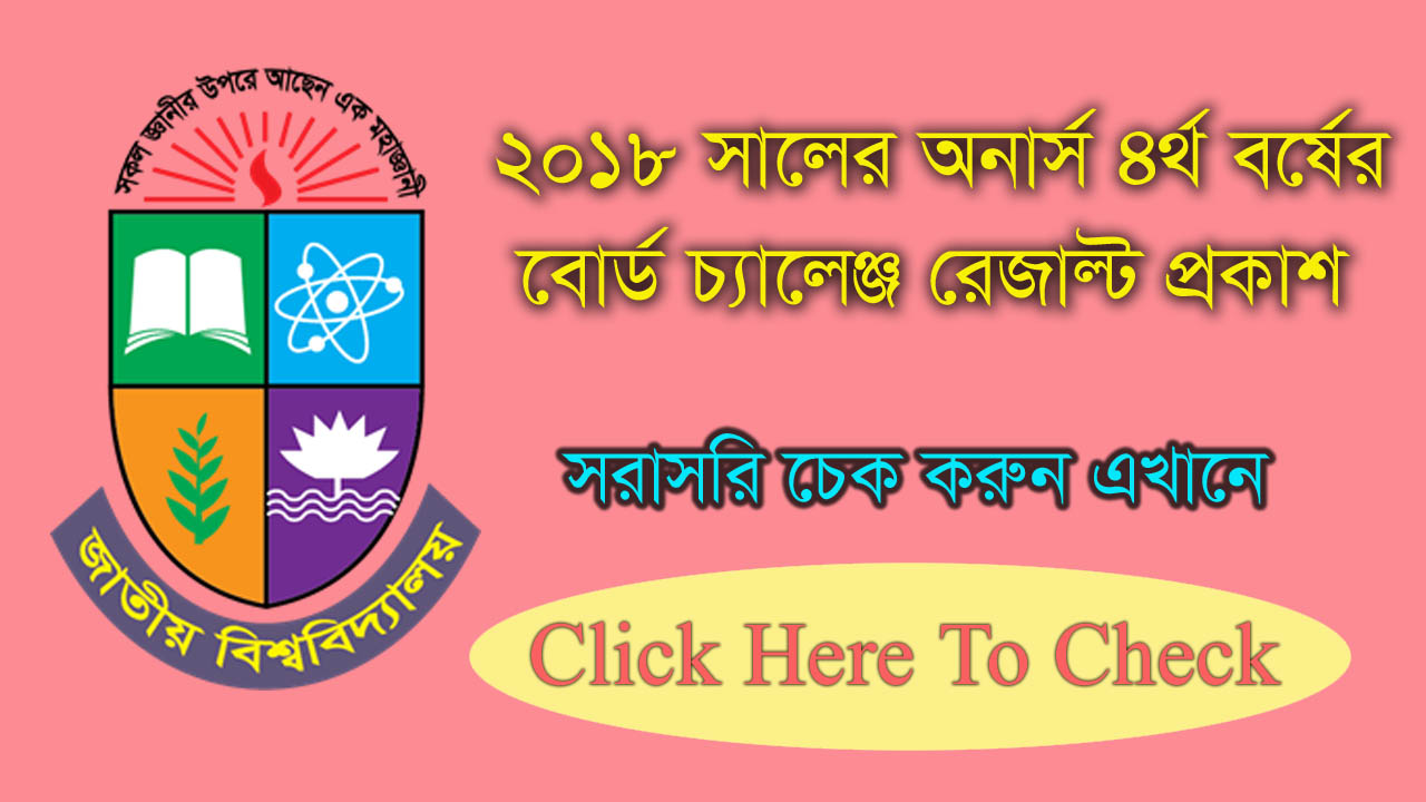 Honours 4th Year Rescrutiny Result 2018