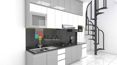 desain 3D kitchen set surabaya