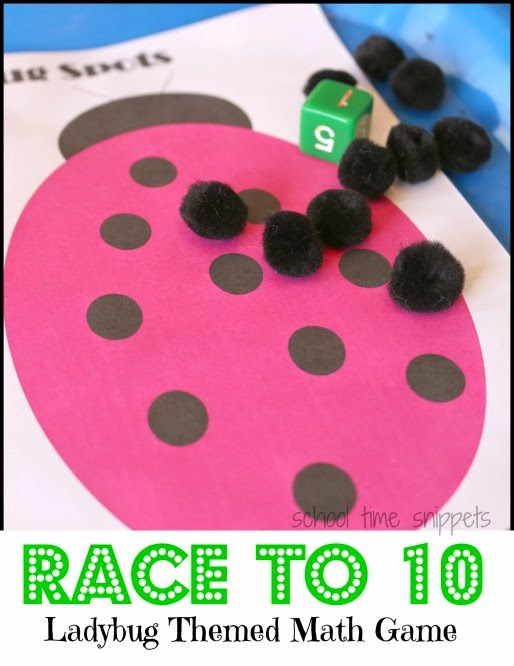 Ladybug Counting Game - Printable