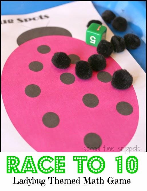 Ladybug Counting Game - Printable