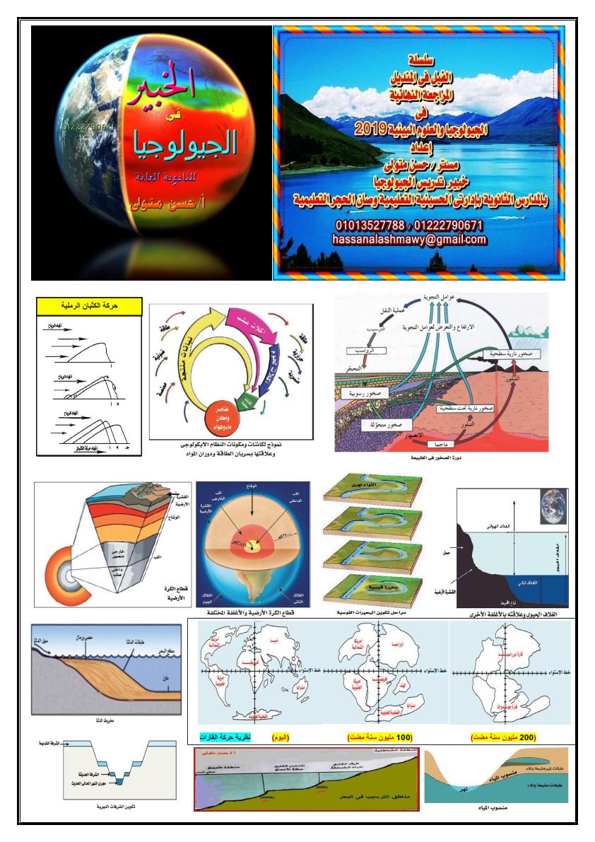 مراجعة ليلة امتحان الجيولوجيا والعلوم البيئية للثانوية العامة أ/ حسن متولي 777_015