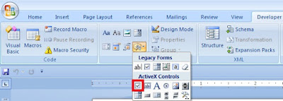 How to Insert a Checkbox in Word in Hindi