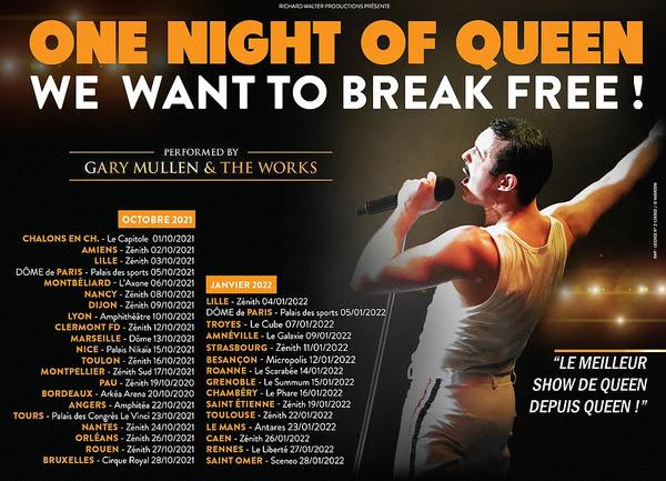 One Night of Queen, la tournée française