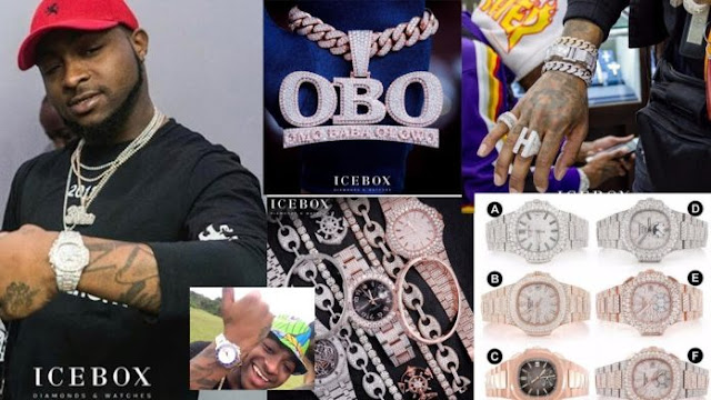 Icebox made a diamond wrist watch for Davido