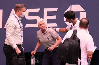 دجوكوفيتش يخرج مطروداً من بطولة أمريكا المفتوحة للتنس
