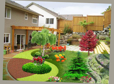 Patio Ideas For Backyard Plants Back Garden Design Ideas Creative Picture 003