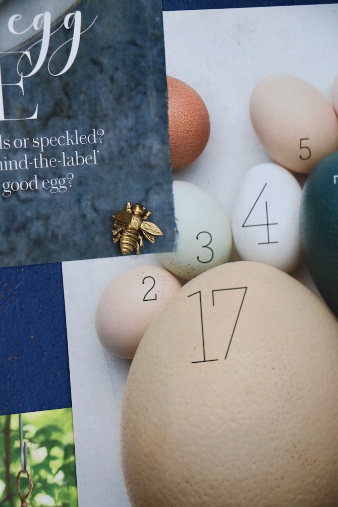 Include text that identifies numbered objects on photos pinned to a bulletin board