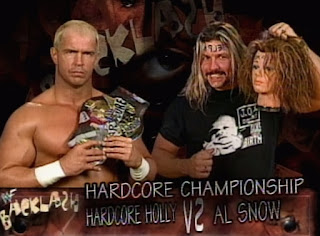 WWE / WWF - Backlash 1999 - Al Snow vs Hardcore Holly for the WWF Hardcore Championship