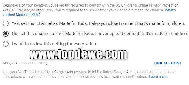 Pembatasan konten anak di yoputube