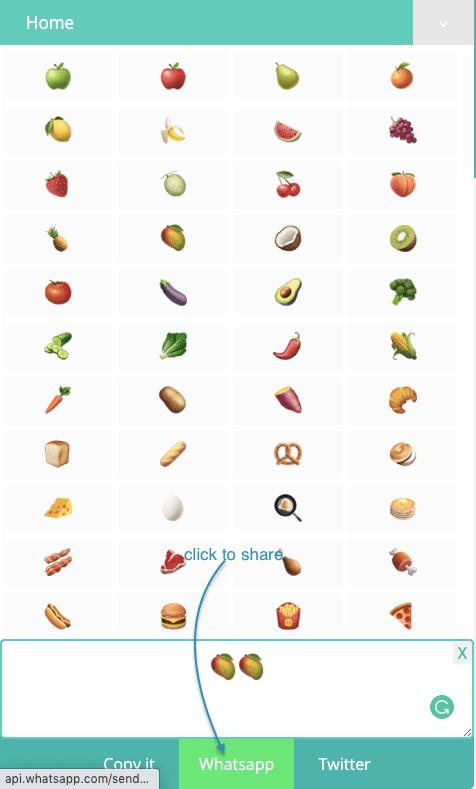 How to Share Food Symbols on Whatsapp?