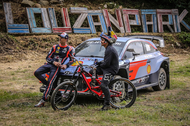 Rally Driver Dani Sordo and  Downhill Cyclist Andreu Lacondeguy