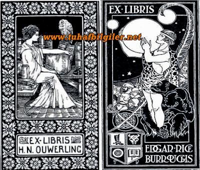ex libris özlü yazılı etiket