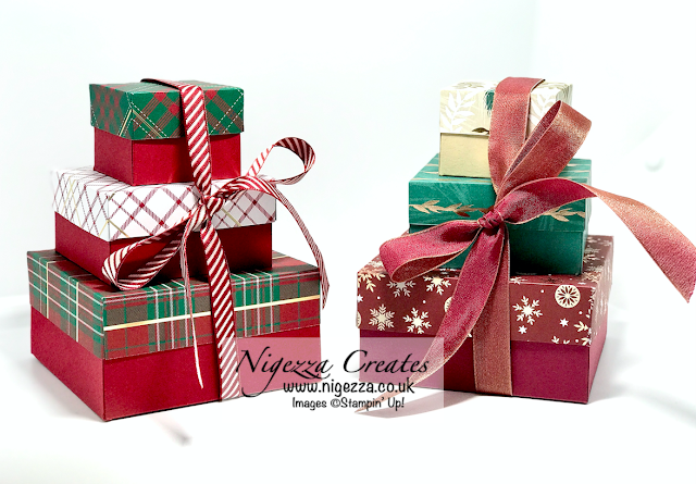 Nigezza Creates with Stampin' Up! & Wrapped In Plaid Stack of Boxes