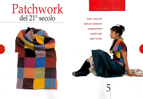 Cuello Largo con Trozos Crochet Patchwork