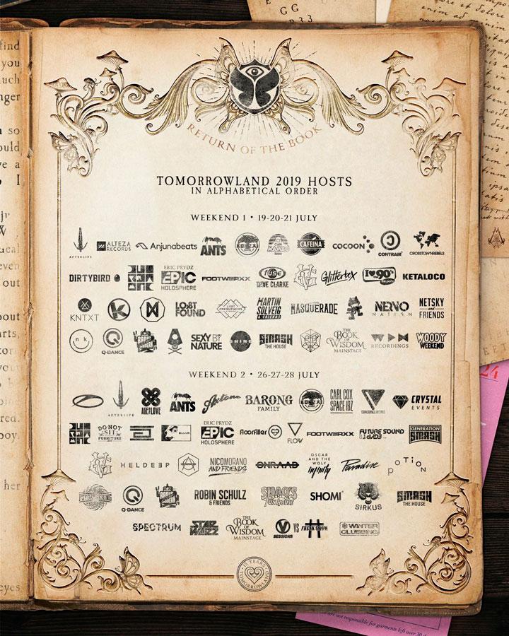 Line up Tomorrowland 2019: Escenarios y artistas