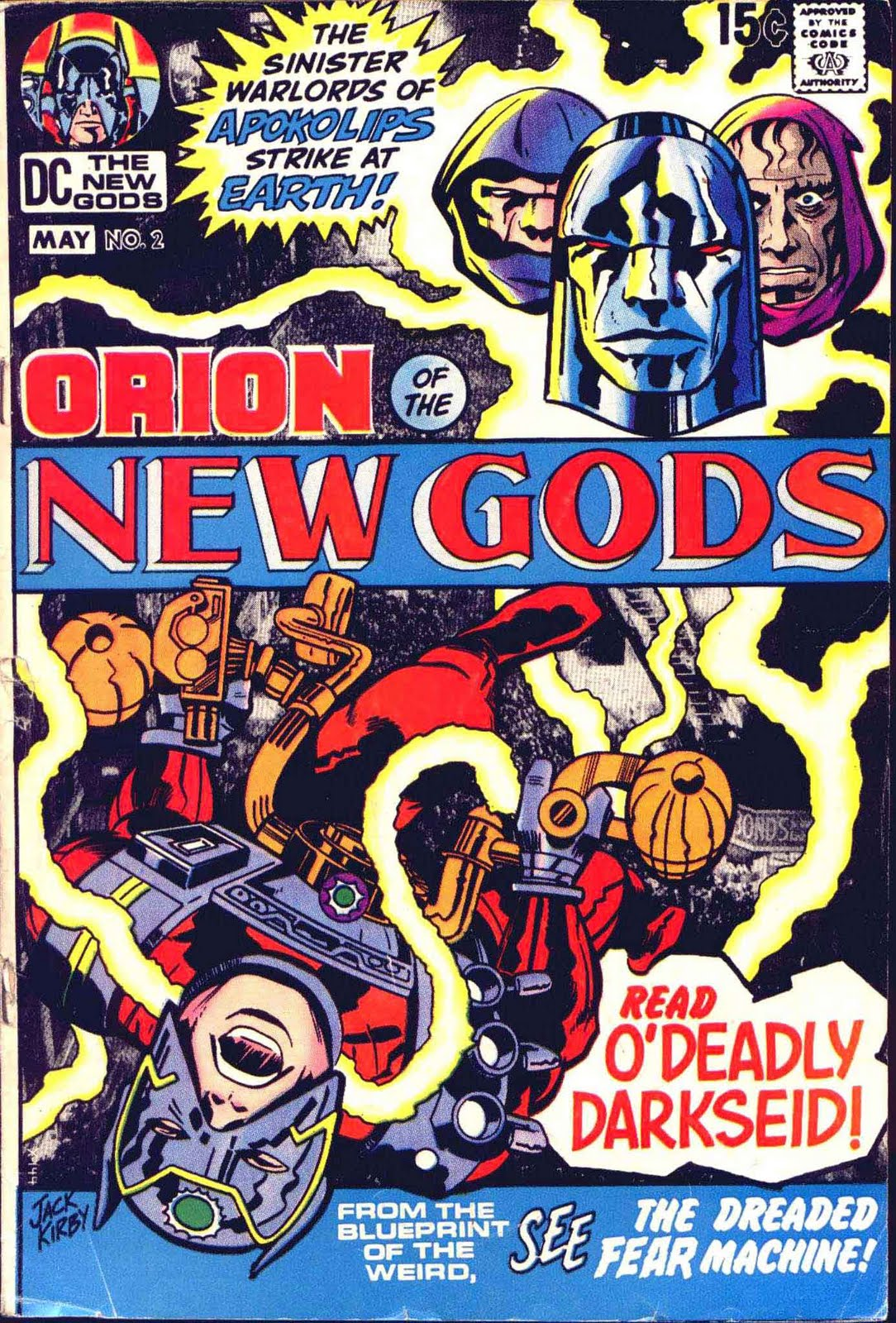 New Gods v1 #2 dc bronze age comic book cover art by Jack Kirby
