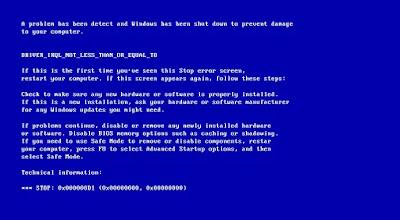 Kode Atau Pesan Penyebab Terjadinya Blue Screen Pada Laptop Dan PC