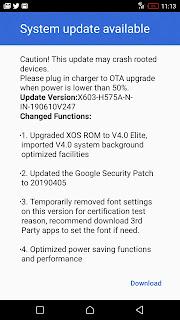 update for inifinix zero 5 mobile