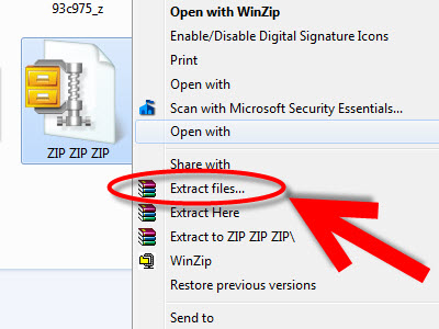 How to Extrack Zip File