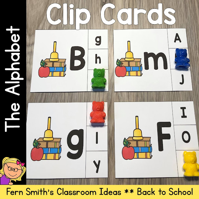 Click Here to Grab These Back to School Alphabet Themed Alphabet Clip Cards for Your Class Today!